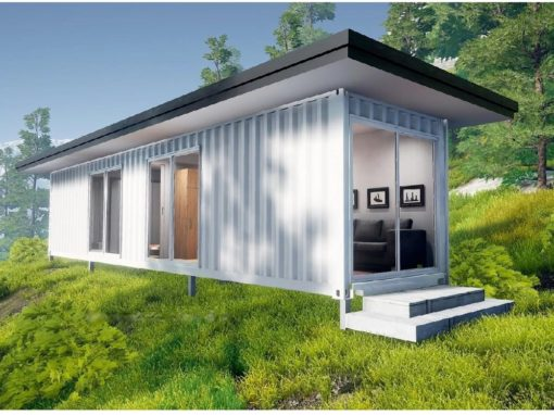 Single 40ft Container Plain with Double Roof