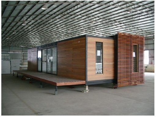 Single 40ft Container Expanding to Double Living Space