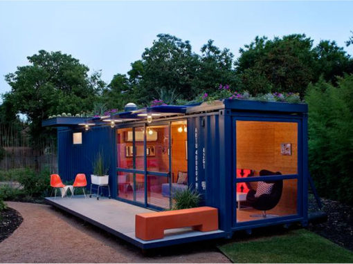 40ft Container plain with patio